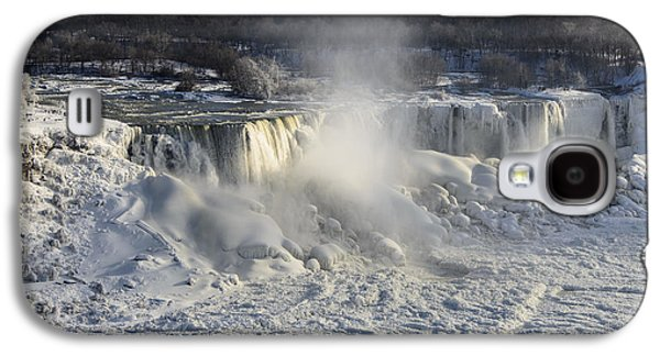 Americans Pyrography Galaxy S4 Cases - Niagara Falls in Winter Galaxy S4 Case by Yoshiko Wootten