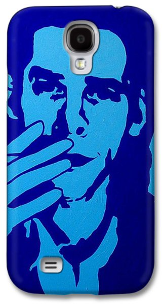 Icons Prints Paintings Galaxy S4 Cases - Nick Cave Galaxy S4 Case by John  Nolan