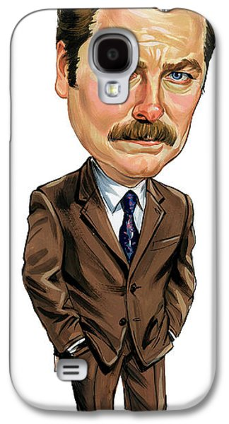 Nick Offerman As Ron Swanson Galaxy S4 Case by Art