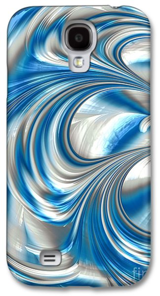 Creativity Galaxy S4 Cases - Nickel Blue Abstract Galaxy S4 Case by John Edwards