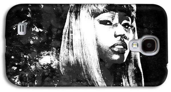 Eminem Paintings Galaxy S4 Cases - Nicki Minaj 4x Galaxy S4 Case by Brian Reaves