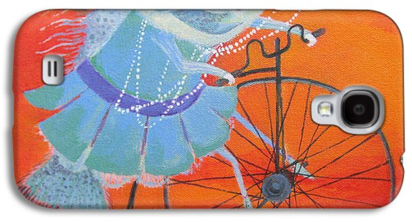 Surrealistic Paintings Galaxy S4 Cases - Niece Sonia Galaxy S4 Case by Marina Gnetetsky