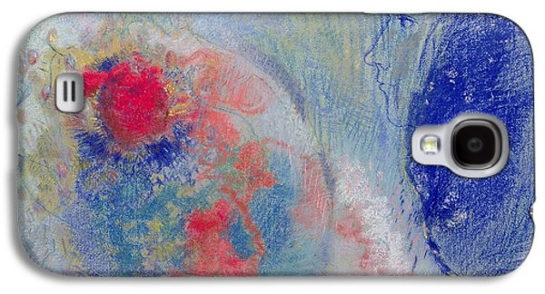 Blue Pastels Galaxy S4 Cases - Night and Day Galaxy S4 Case by Odilon Redon