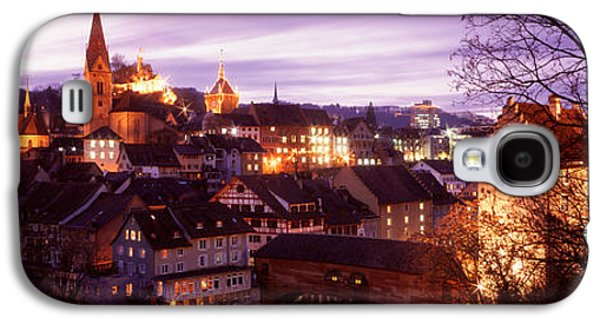 Historical Buildings Galaxy S4 Cases - Night, Baden, Switzerland Galaxy S4 Case by Panoramic Images
