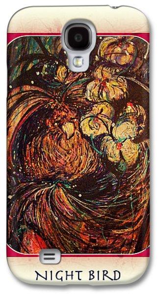 Yomamabird Rhonda Galaxy S4 Cases - Night Bird Galaxy S4 Case by YoMamaBird Rhonda