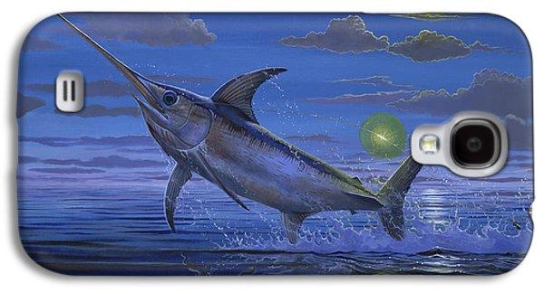 Sportfishing Galaxy S4 Cases - Night Bite Off0066 Galaxy S4 Case by Carey Chen