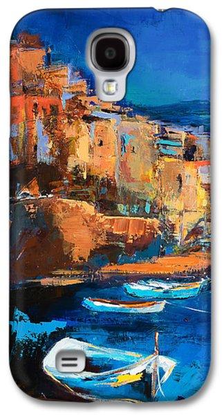 Night Colors Over Riomaggiore - Cinque Terre Galaxy S4 Case by Elise Palmigiani