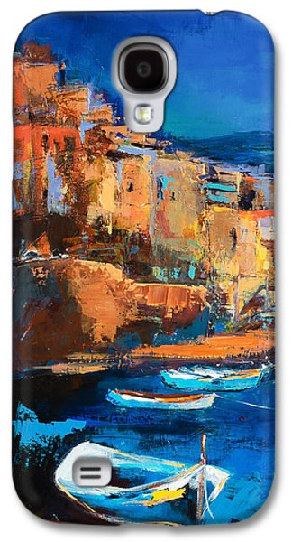 Recently Sold -  - Sunset Abstract Galaxy S4 Cases - Night Colors Over Riomaggiore - Cinque Terre Galaxy S4 Case by Elise Palmigiani