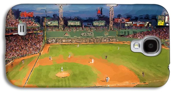 Red Sox Paintings Galaxy S4 Cases - Night Fenway Pop Galaxy S4 Case by John Farr