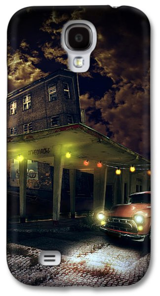 Haunted House Digital Art Galaxy S4 Cases - Night fill Galaxy S4 Case by Nathan Wright