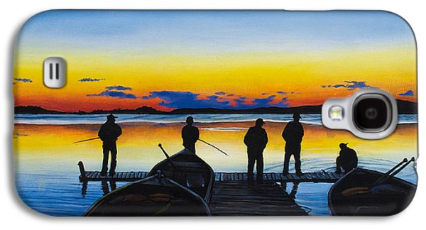 Walleye Galaxy S4 Cases - Night Fishing Galaxy S4 Case by Aaron Spong