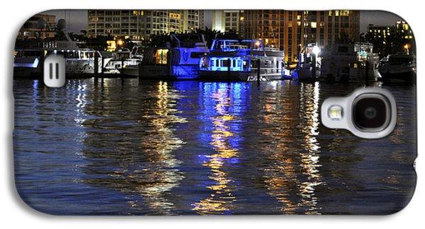 Aqua Condominiums Galaxy S4 Cases - Night Harbor Sarasota Florida Galaxy S4 Case by Sally Rockefeller