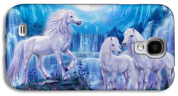 Extinct And Mythical Digital Art Galaxy S4 Cases - Night Horses Galaxy S4 Case by Jan Patrik Krasny