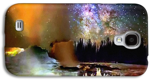 Bison Digital Art Galaxy S4 Cases - Night in Yellowstone National Park Galaxy S4 Case by  Bob and Nadine Johnston