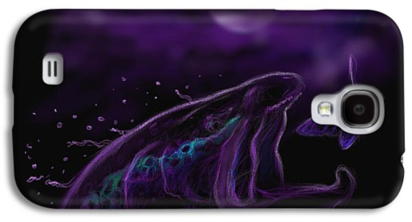 Dogs Digital Galaxy S4 Cases - Night life at the river  Galaxy S4 Case by Yusniel Santos