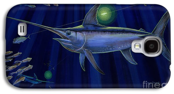 Sharks Paintings Galaxy S4 Cases - Night Life Off0026 Galaxy S4 Case by Carey Chen