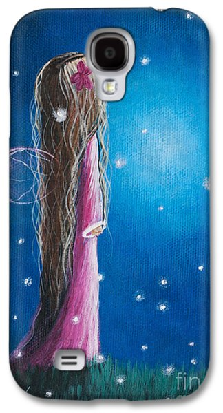 Original Fairy Artwork - Night Of 50 Wishes Galaxy S4 Case by Shawna Erback