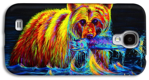 Night Of The Grizzly Galaxy S4 Case by Teshia Art