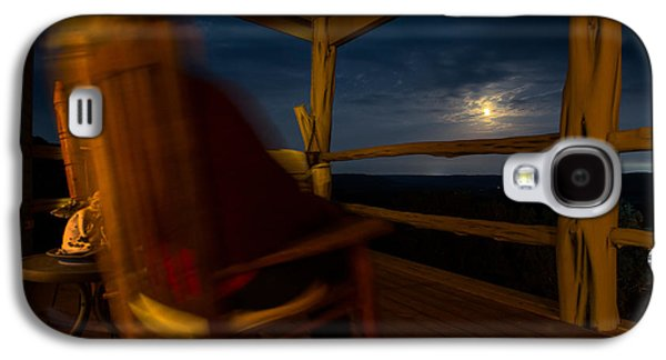 Rocking Chairs Galaxy S4 Cases - Night On The Porch Galaxy S4 Case by Darryl Dalton
