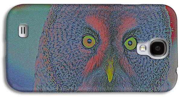 Creative Manipulation Galaxy S4 Cases - Night Owl Galaxy S4 Case by Celestial Images