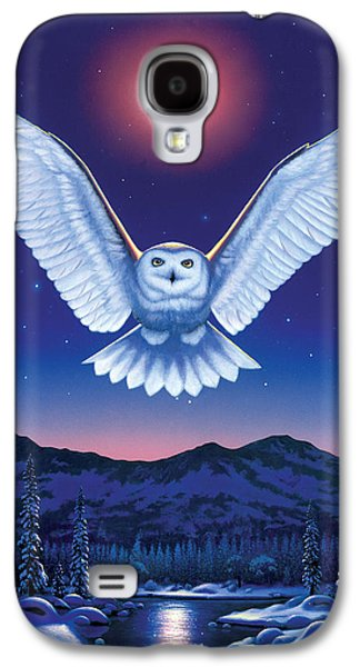 Flying Animal Galaxy S4 Cases - Night Owl Galaxy S4 Case by Chris Heitt