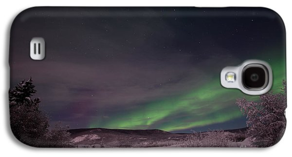 Wintry Galaxy S4 Cases - Night Skies Galaxy S4 Case by Priska Wettstein