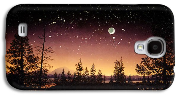 Constellations Paintings Galaxy S4 Cases - Night Sky in Tuolumme Meadows Galaxy S4 Case by Douglas Castleman