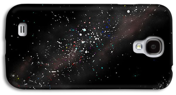 Macrocosm Paintings Galaxy S4 Cases - Night Sky - Milky Way Galaxy S4 Case by Daniel Janda