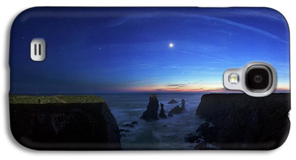 Night Sky Over Port Coton Needles Galaxy S4 Case by Laurent Laveder