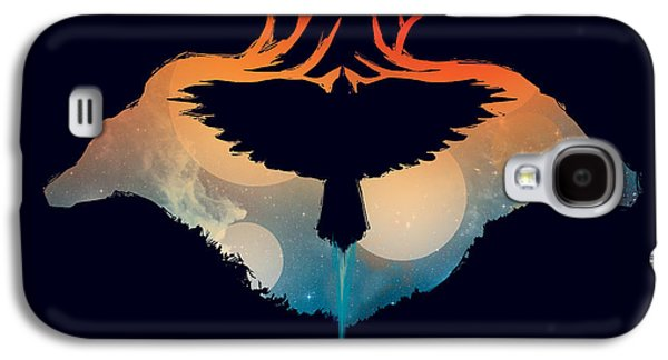 Flying Animal Galaxy S4 Cases - Night Sky Over Savannah Galaxy S4 Case by Budi Kwan
