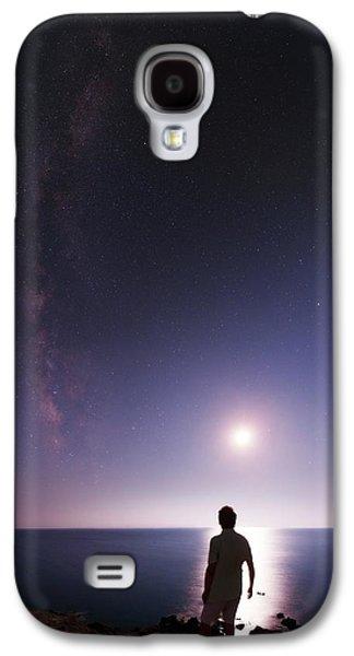 Night Sky Over The Mediterranean Sea Galaxy S4 Case by Babak Tafreshi