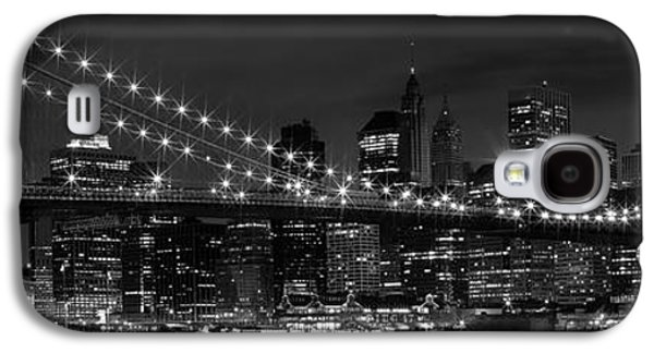 Night-skyline New York City Bw Galaxy S4 Case by Melanie Viola