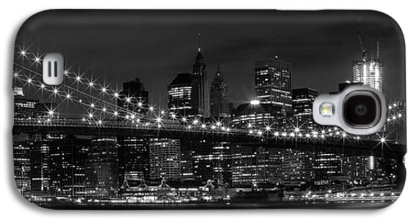 Night-skyline New York City Bw Galaxy S4 Case by Melanie Viola