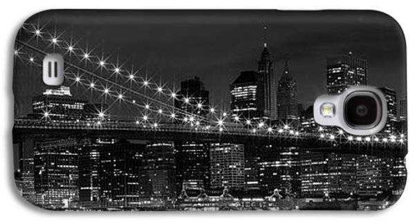 Evening Digital Galaxy S4 Cases - Night-Skyline NEW YORK CITY bw Galaxy S4 Case by Melanie Viola