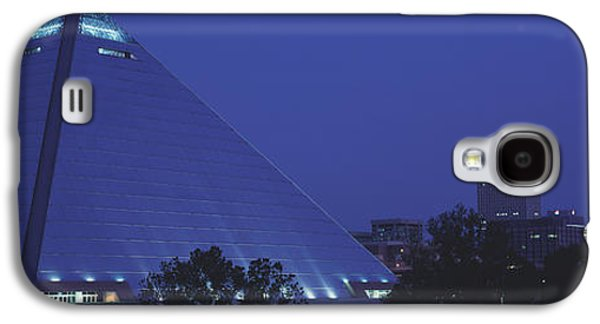Tn Galaxy S4 Cases - Night The Pyramid And Skyline Memphis Galaxy S4 Case by Panoramic Images