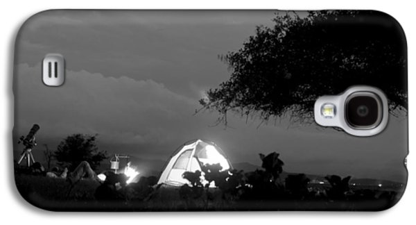 Behind The Scenes Photographs Galaxy S4 Cases - Night time camp site Galaxy S4 Case by Kantilal Patel
