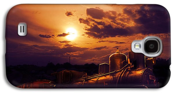 Transportation Pyrography Galaxy S4 Cases - Night Train Galaxy S4 Case by Jelena Jovanovic