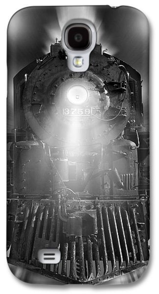 Rail Digital Art Galaxy S4 Cases - Night Train On The Move Galaxy S4 Case by Mike McGlothlen