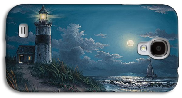 Sailboat Galaxy S4 Cases - Night Watch Galaxy S4 Case by Kyle Wood