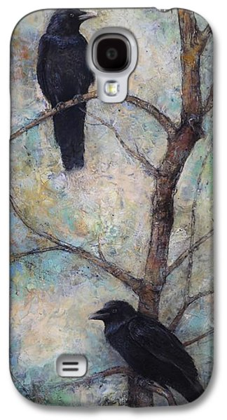 Crows Black Paintings Galaxy S4 Cases - Night Watch -  Ravens Galaxy S4 Case by Lori  McNee