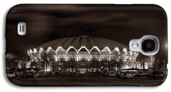 Dan Friend Galaxy S4 Cases - night WVU Coliseum basketball arena Galaxy S4 Case by Dan Friend