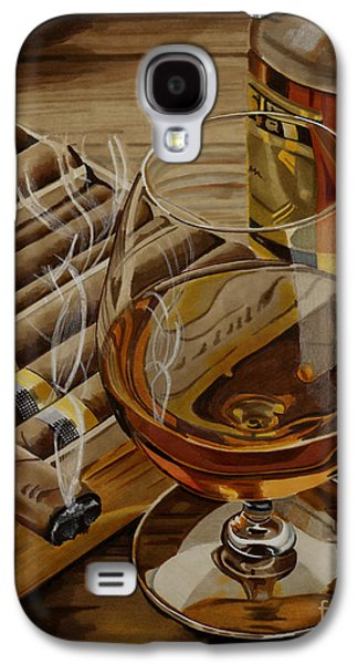 Lounge Drawings Galaxy S4 Cases - Nightcap Galaxy S4 Case by Cory Still