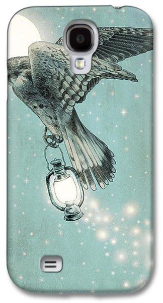 Light Drawings Galaxy S4 Cases - Nighthawk Galaxy S4 Case by Eric Fan