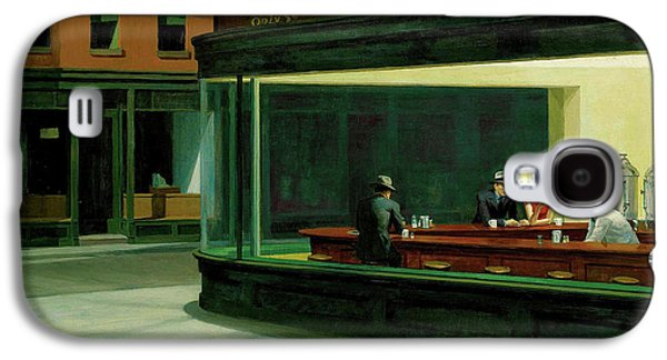 Photographs Galaxy S4 Cases - Nighthawks Galaxy S4 Case by Edward Hopper