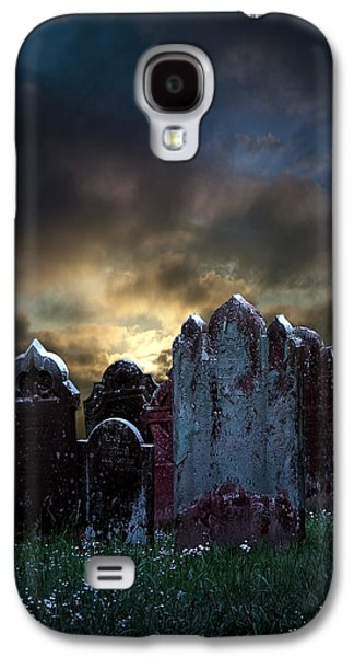 Creepy Digital Galaxy S4 Cases - Nightmare Hill Galaxy S4 Case by Svetlana Sewell