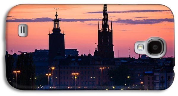 Europa Galaxy S4 Cases - Nightsky over Stockholm Galaxy S4 Case by Inge Johnsson