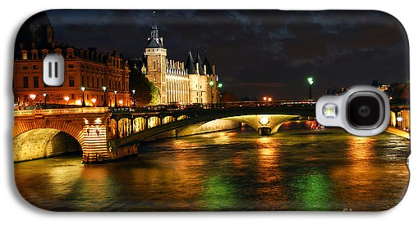 Landmarks Photographs Galaxy S4 Cases - Nighttime Paris Galaxy S4 Case by Elena Elisseeva