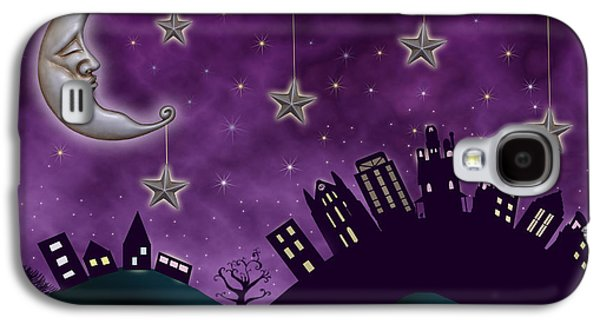 Hand Drawn Galaxy S4 Cases - Nighty Night Galaxy S4 Case by Juli Scalzi