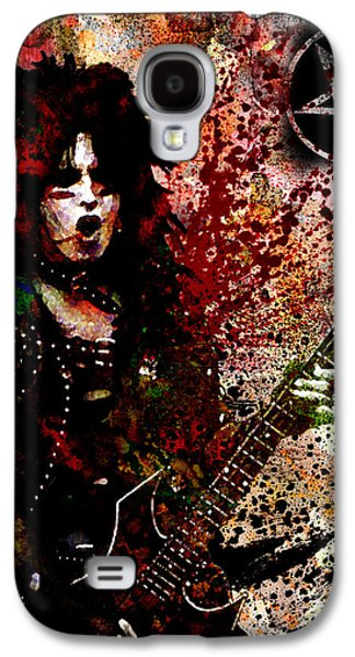 Rock N Roll Paintings Galaxy S4 Cases - Nikki Sixx - Motley Crue  Galaxy S4 Case by Ryan RockChromatic