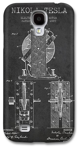 Nikola Tesla Electro Magnetic Motor Patent Drawing From 1889 - D Galaxy S4 Case by Aged Pixel